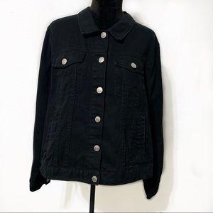 Forever 21+ Plus Size Black Jean Jacket